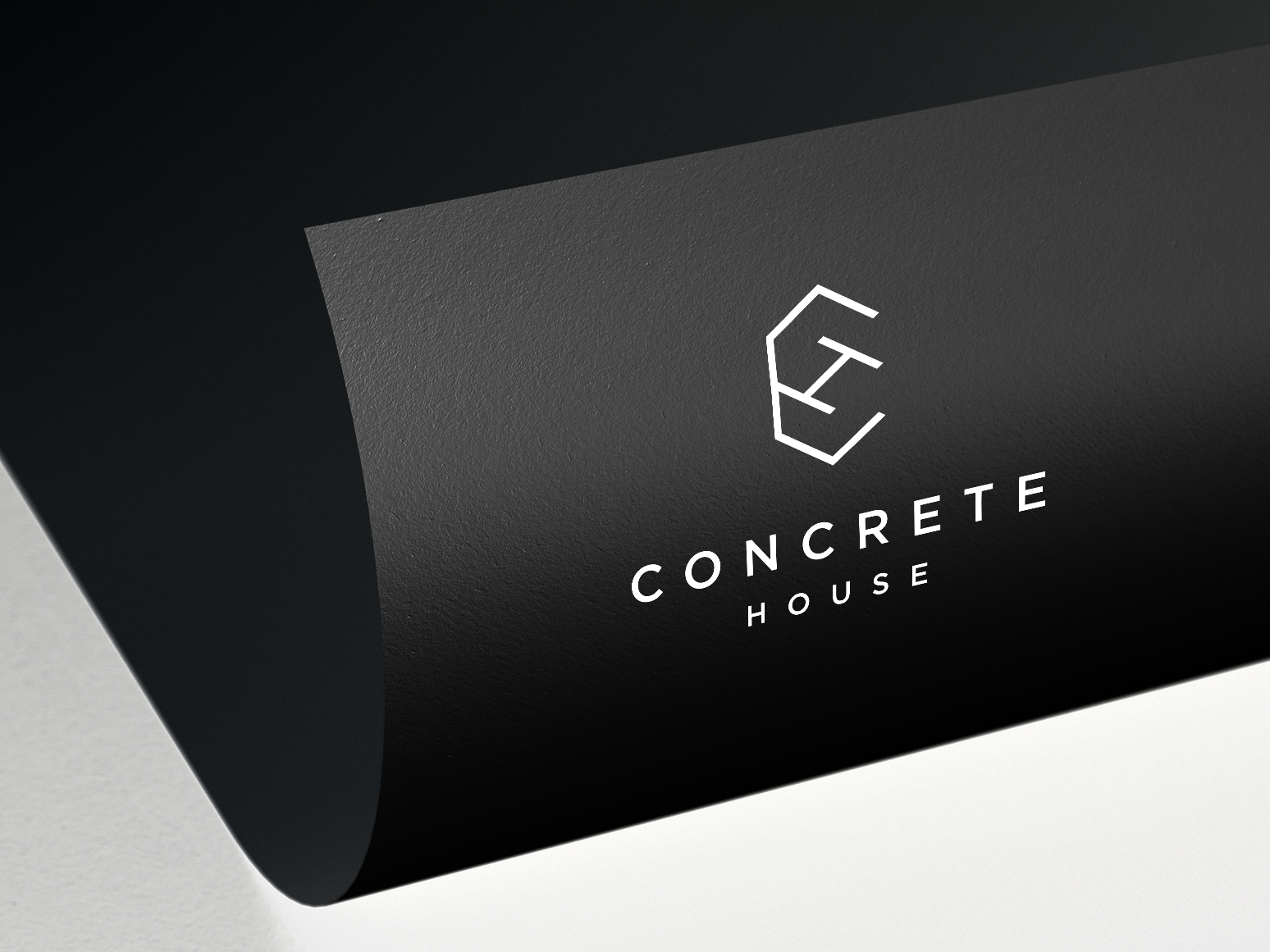 concrete house logo applications