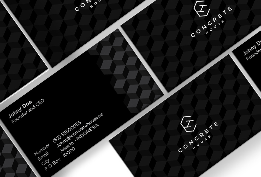 concrete house business cards